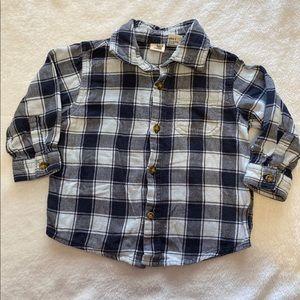 Boys button flannel shirt